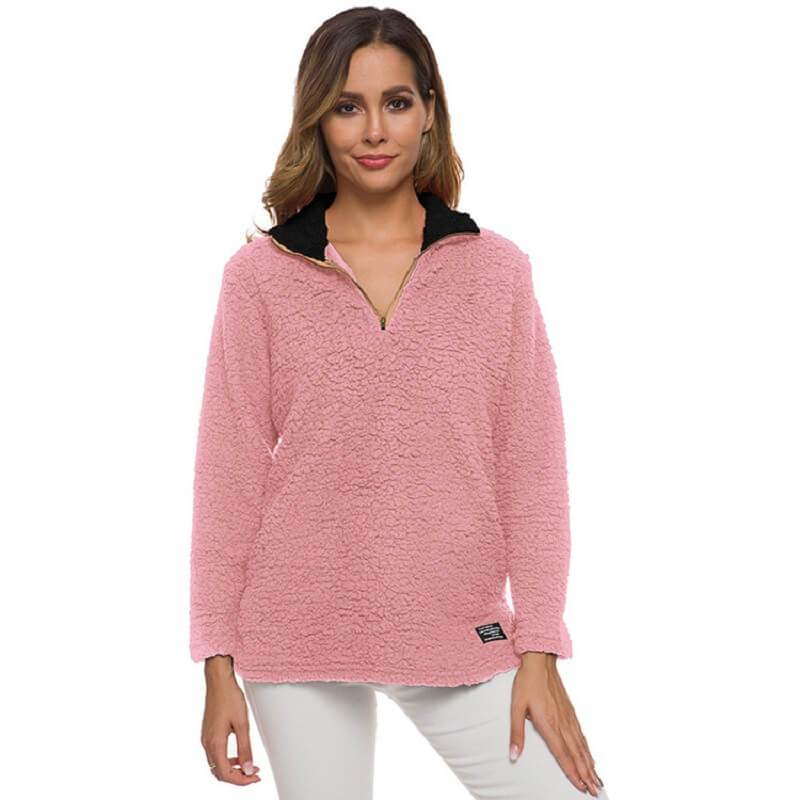Plus Size Cashmere Sweater - pink color