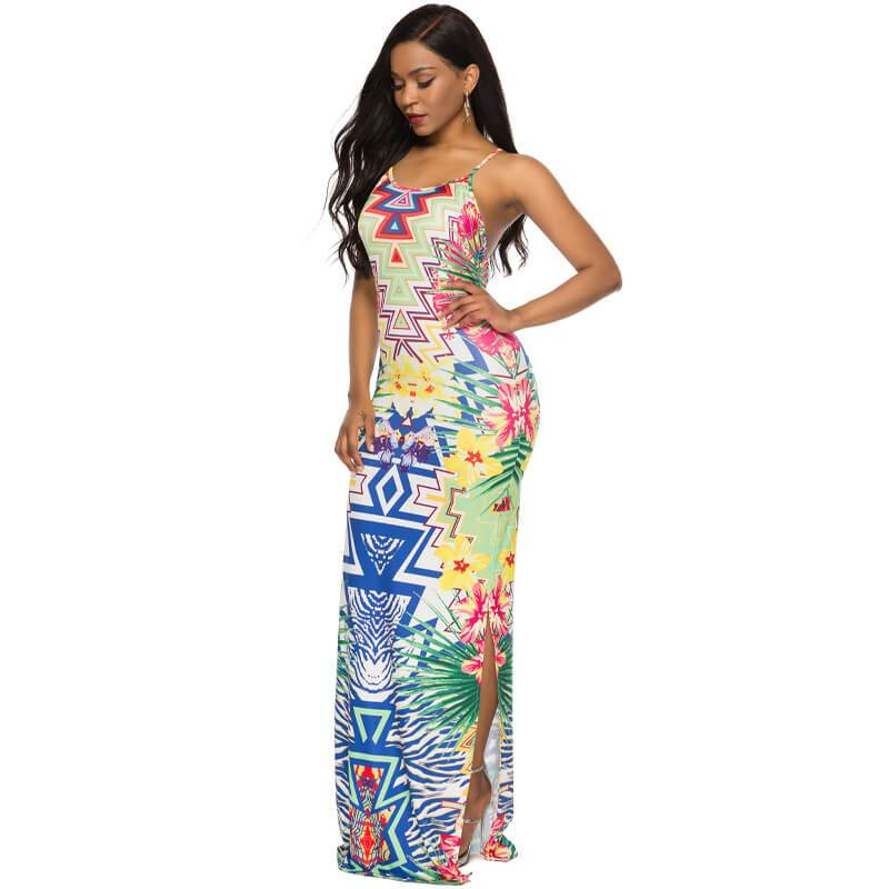 Strappy Back Maxi Dress - left side view