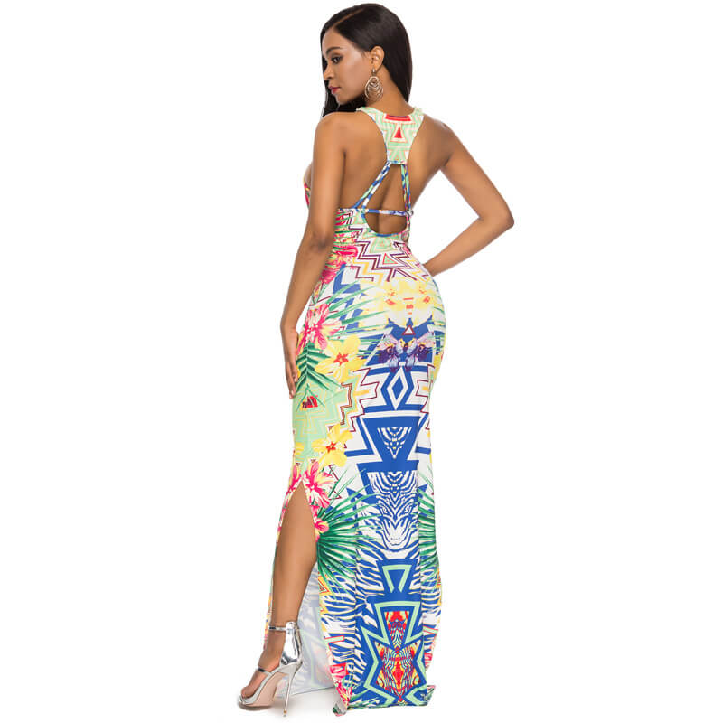 Strappy Back Maxi Dress - back side view
