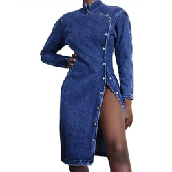Sexy Slim Long-sleeved Denim Dress