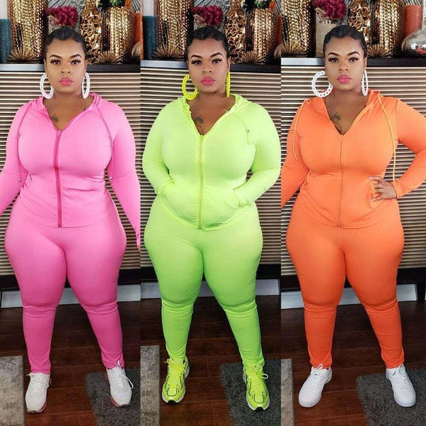 Plus Size Solid Sport 6-color Casual Wear