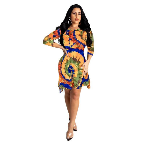 Stained Plus Size Short Dresses