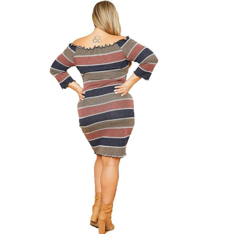 plus size vintage dresses cheap - striped back