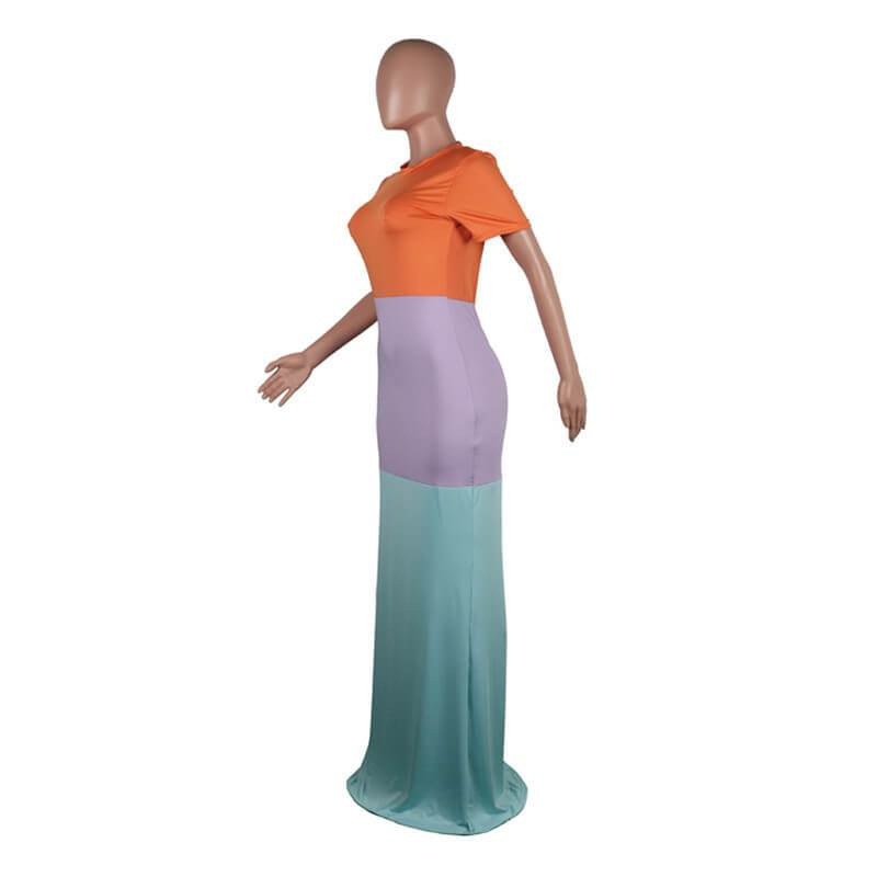 Long Tight Maxi Dress - left side view