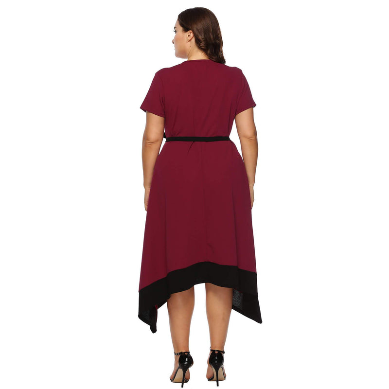 Summer Women's Plus Size Dresses Lace Up Long Dress