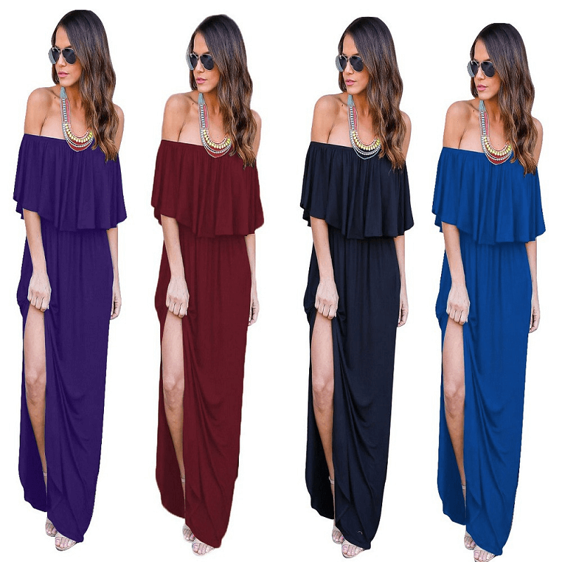 Thigh Split Maxi Dress - Wholesale Maxi Dress | Chic Lover