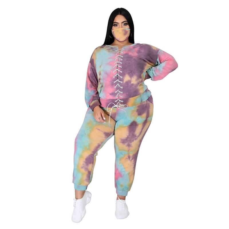 Plus Size Tie Dye Suit - 5th