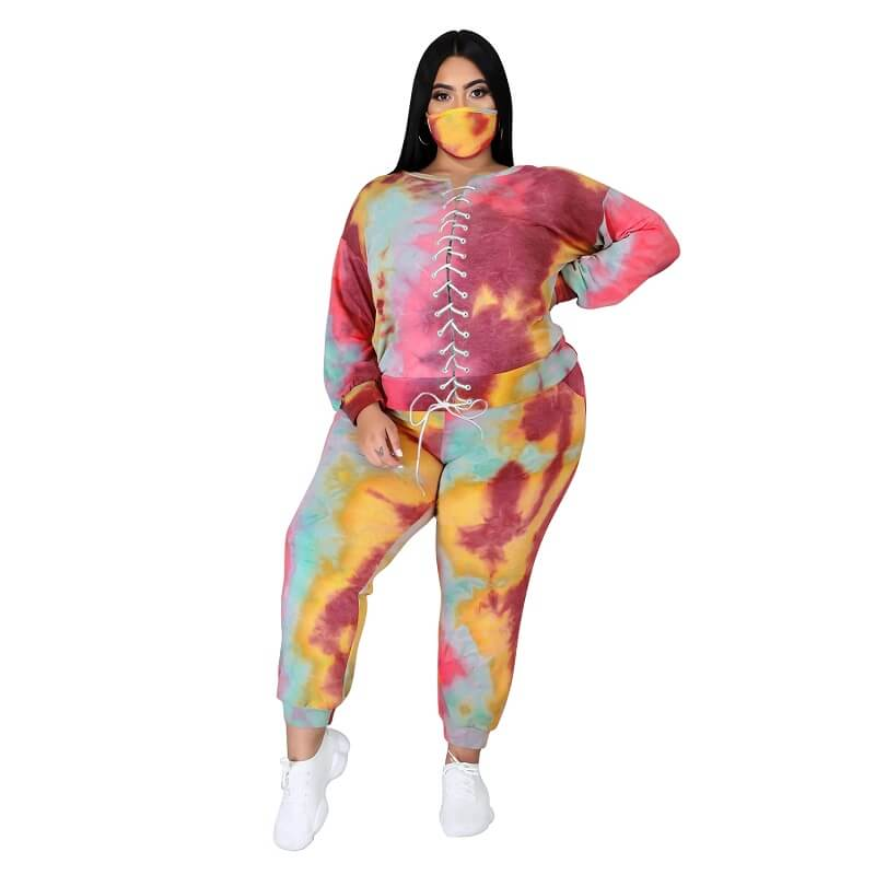 Plus Size Tie Dye Suit - 7th