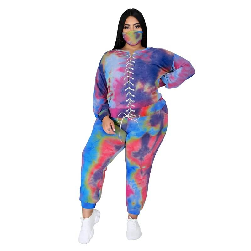 Plus Size Tie Dye Suit - 4th