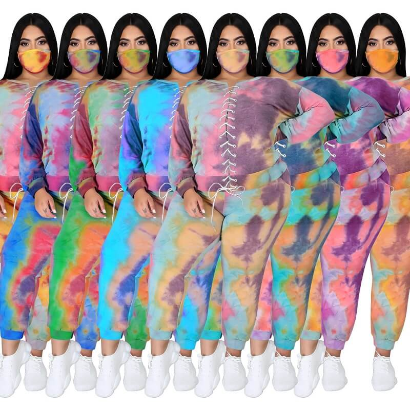 Plus Size Tie Dye Suit - main picture
