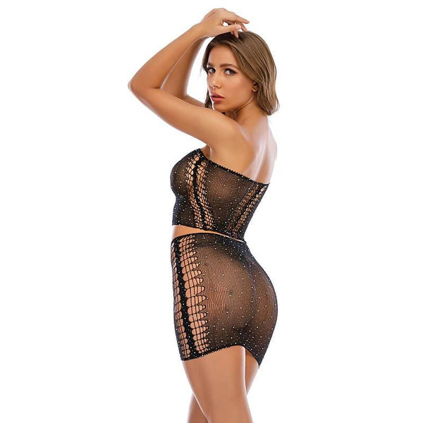 Best Price 2 Piece See Through Nightwear