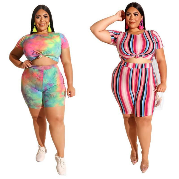 Two Piece O-Neck Outfits