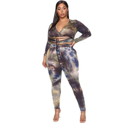 Plus Size Two Sets of Printed Straps - printed color positive