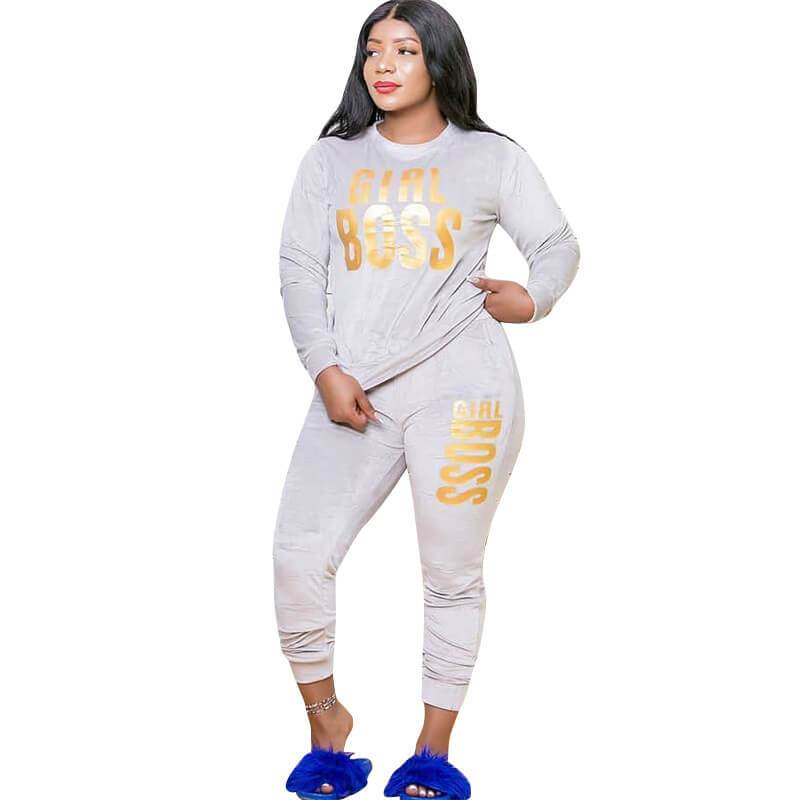 2 Piece Outfit Sets Plus Size - white positive