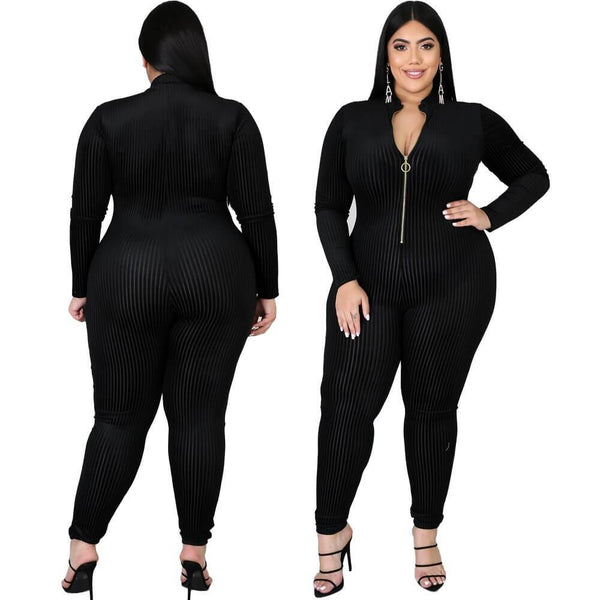 Women's Black Oversized Jumpsuit