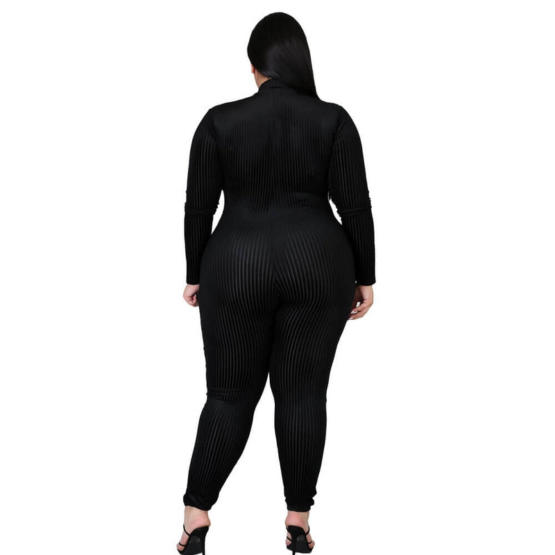Plus Size Women's Black Oversized Jumpsuit