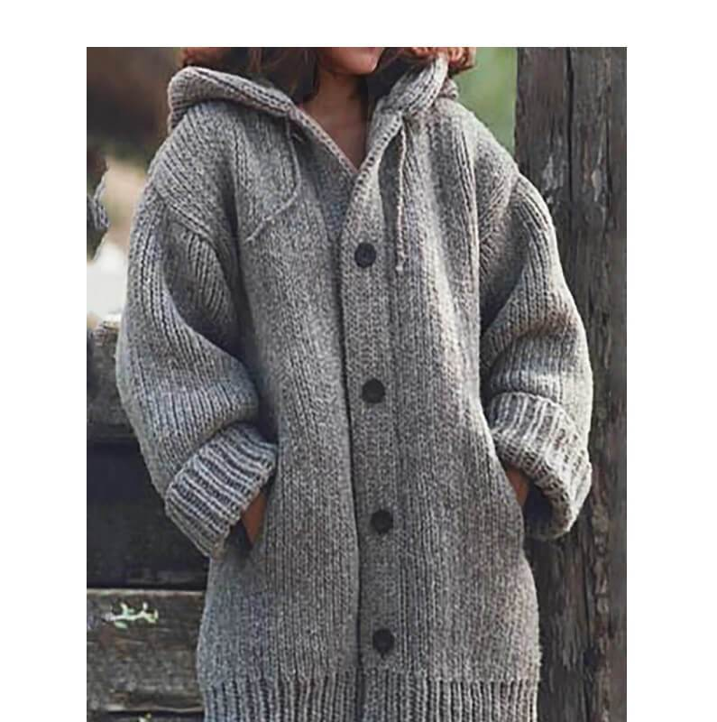 Plus Size Sweater Jackets - gray color