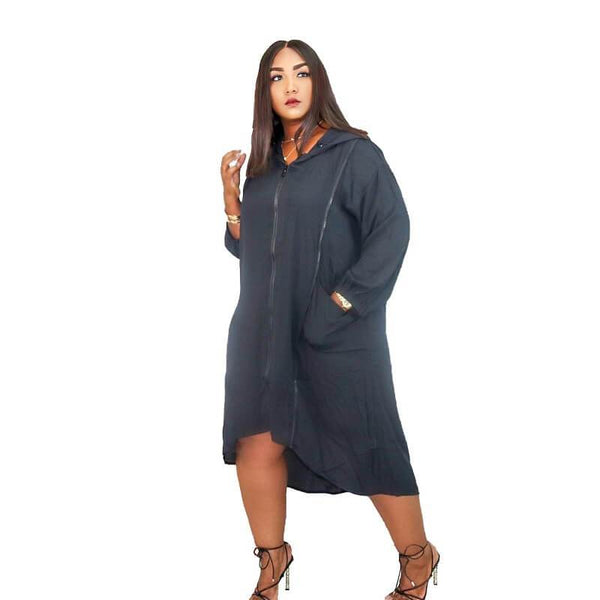 Zipped Hooded Dress