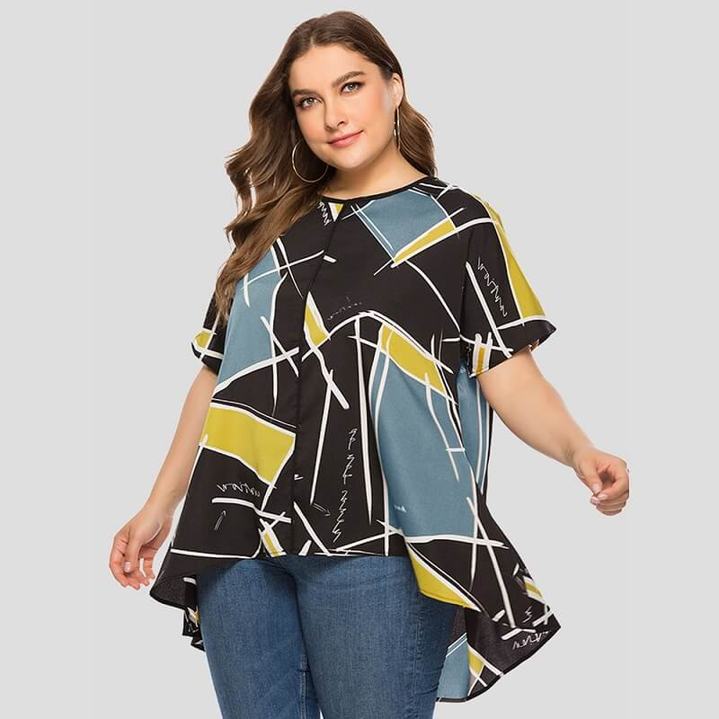 Friends T Shirt Plus Size - yellow positive