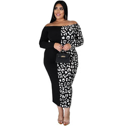 Plus Size Evening Dresses - black whole body