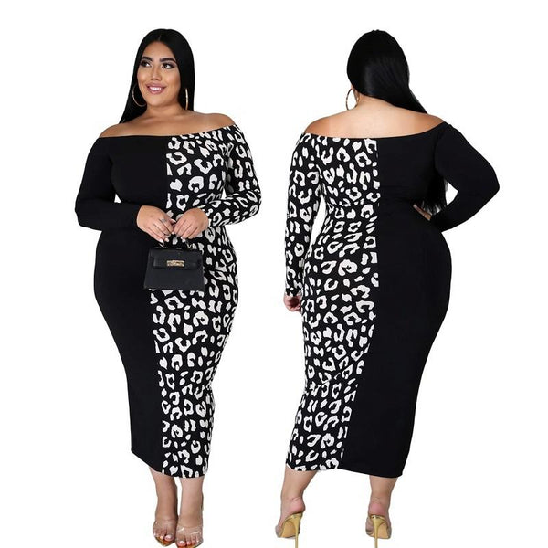 Printed Plus Size Evening Dresses