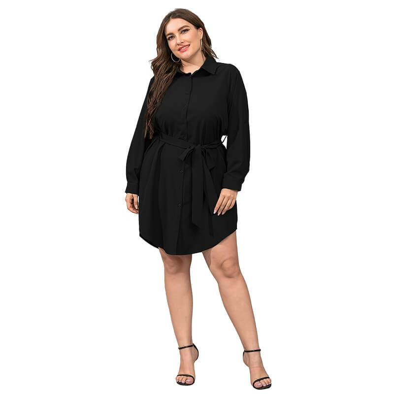 Plus Size Black Blouse - black color
