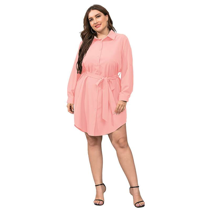 Plus Size Black Blouse - pink color