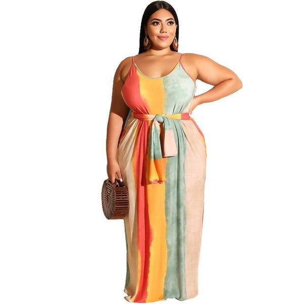 Plus Size Beach Dresses - beige color