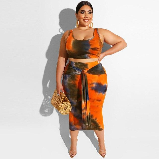Casual Plus Size Two Piece Set
