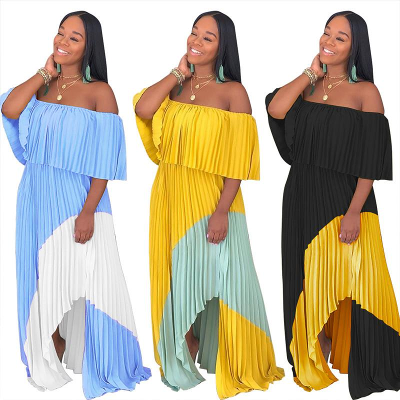 Smocked Off The Shoulder Maxi Dress  - Wholesale Maxi Dress | Chic Lover
