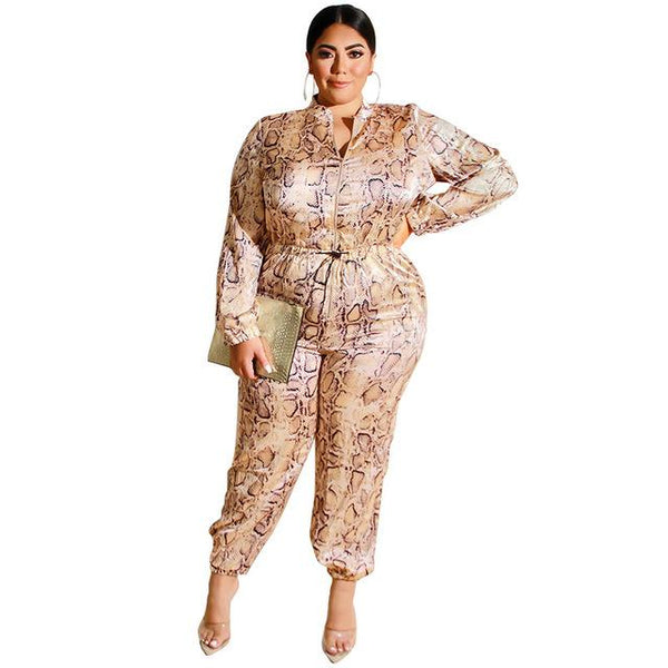 Plus Size Rompers Women Jumpsuit Satin Drawstring Pant Casual