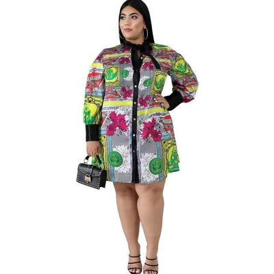 Plus Size Mother Dresses Under 100- multi main picture