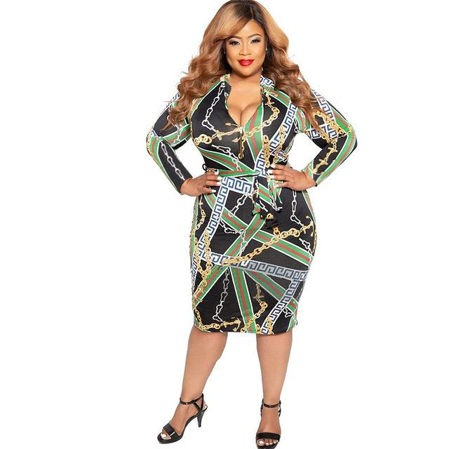 Cheap Plus Size Dresses - green color