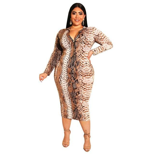 Cheap Plus Size Dresses - khaki color