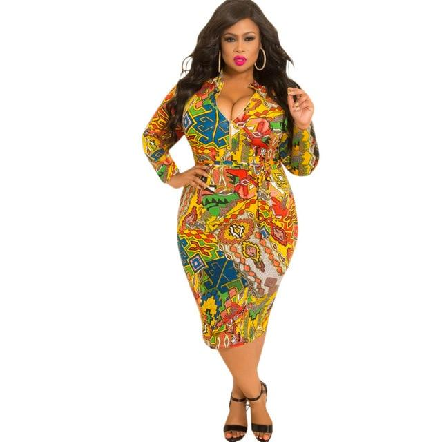 Cheap Plus Size Dresses - yellow color