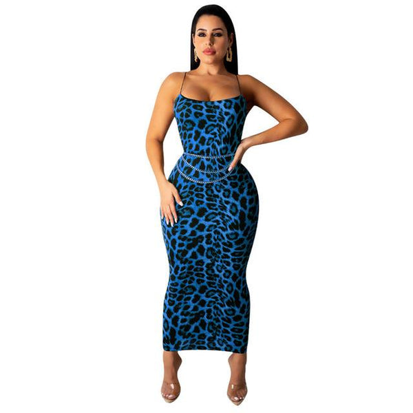 Bodycon Leopard Print Sexy Dress