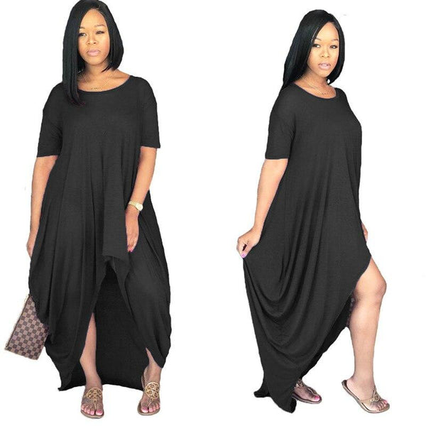 Cheapr Maxi Romper Dress - Black Color