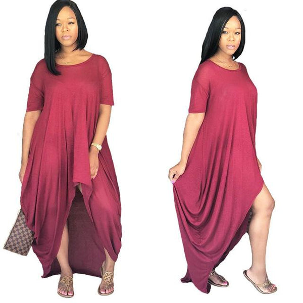 Cheapr Maxi Romper Dress - Red Color