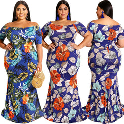 Short Sleeve Plus Size Mexican Dress - main picture
