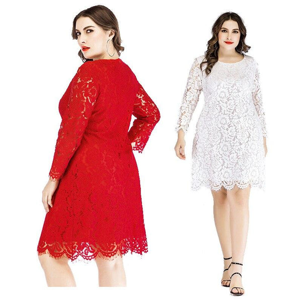 Plus Size Lace Wedding Dresses - two colors