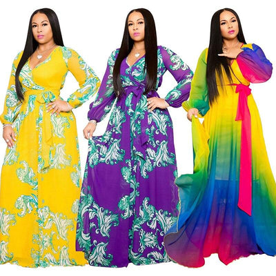 Plus Size Long Dresses - three colors