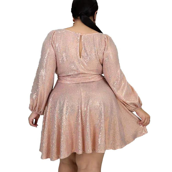 Plus Size Special Occasion Dresses - pink back