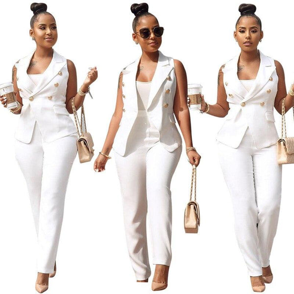 Summer Office Lady Style 2 Piece Outfits for Women