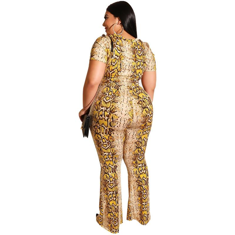 Plus Size Long Trouser Summer 2 Piece Set