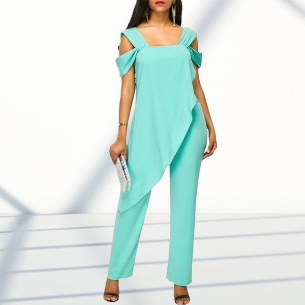 Plus Size 5XL Fashion High Waist Slim Sleeveless Jumpsuits