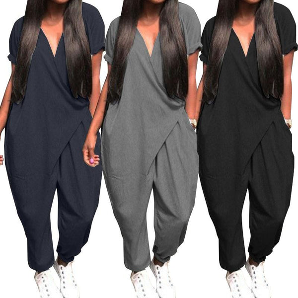 Plus Size Women Summer Jumpsuits