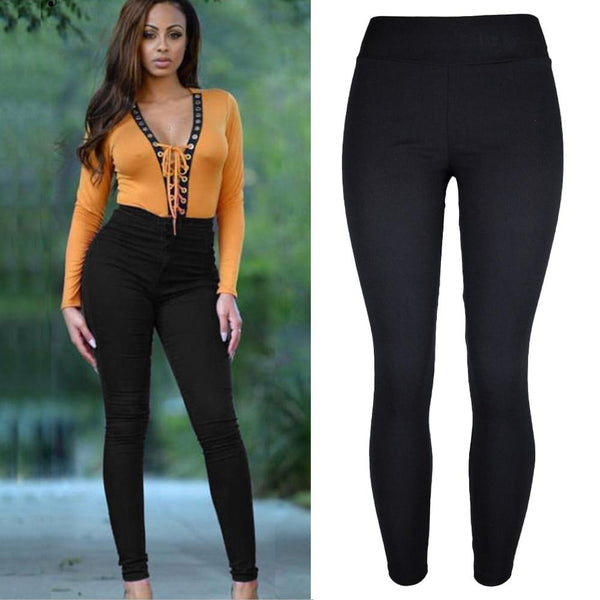 Plus Size Women Pencil Pants Cotton Trousers