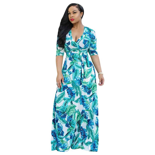 Plus Size Dresses Online - green color