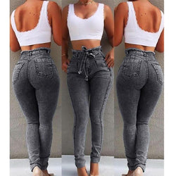 Plus Size High Waist Jeans For Women