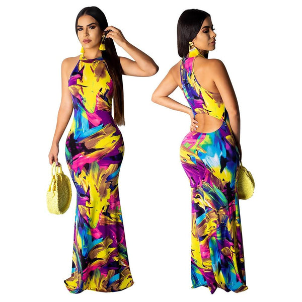 High Neck Maxi Dress - Wholesale Maxi Dress | Chic Lover